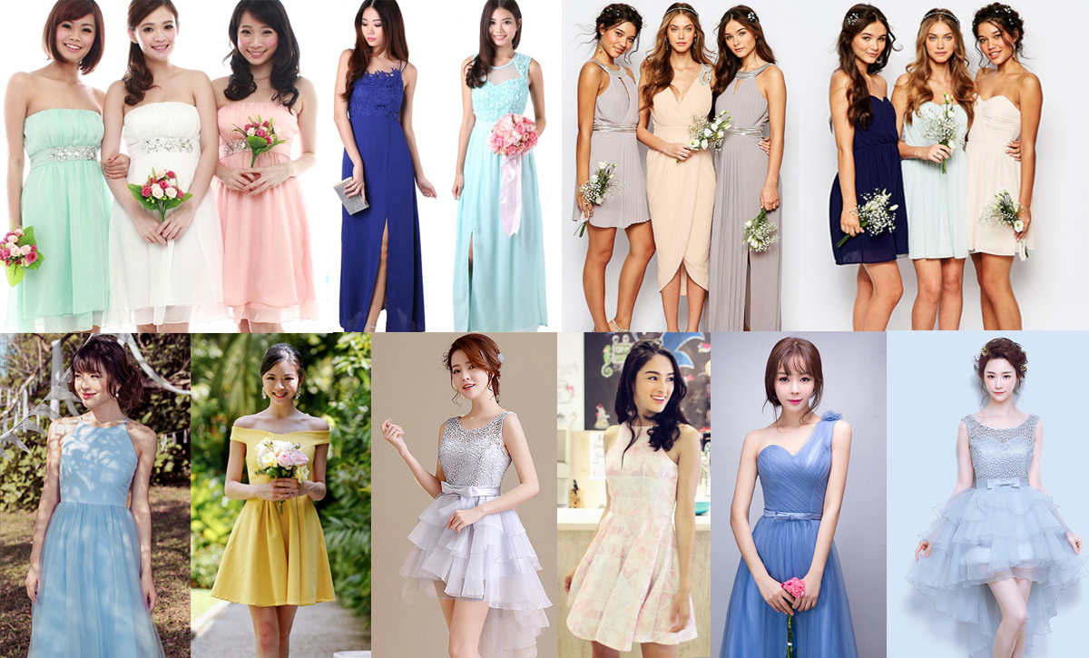 10 Best Bridemaid Dresses Singapore Shops You Can Find