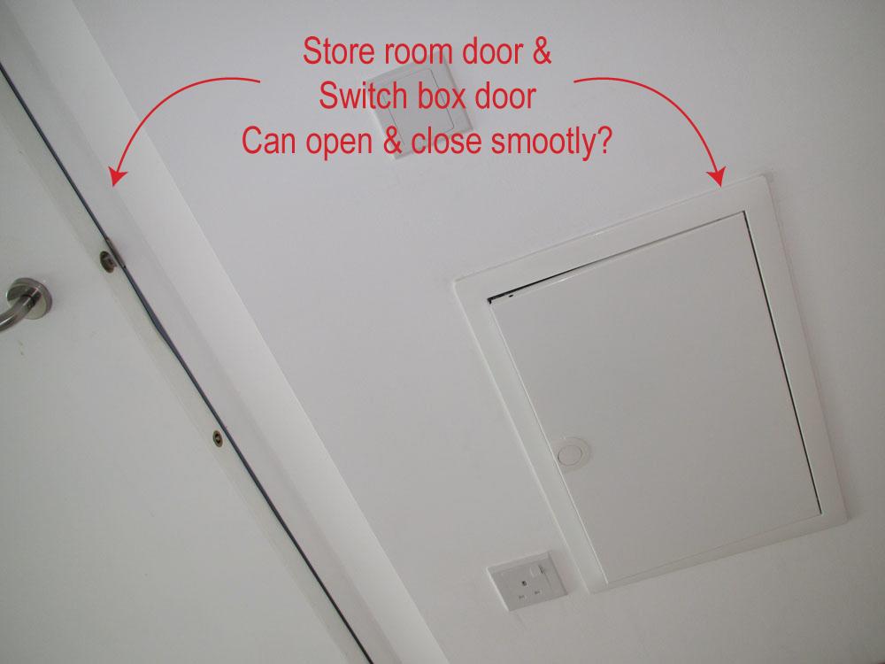 hdb defect checklist- storeroom and switch box door