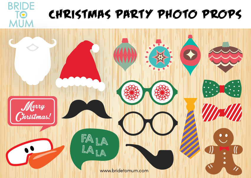 christmas photo booth props printable